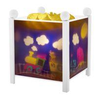 TROUSSELIER - Veilleuse bébé lanterne magique train blanc
