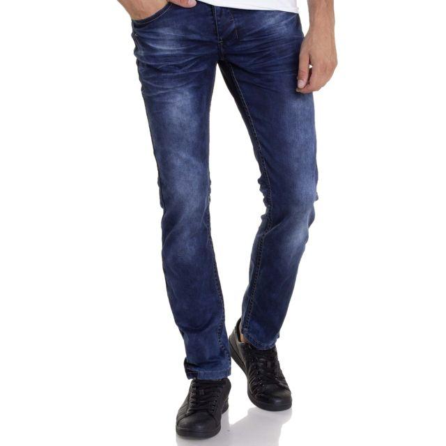 BLZ Jeans - Jean homme coupe droite bleu délavé stylé - pas cher ... 2e181dbb2eb3