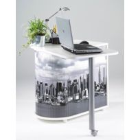 Bonareva - Bureau informatique - Gain de place - New-York / Building - Blanc