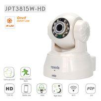 TENVIS - JPT3815W-HD Caméra de surveillance HD 720P 1280x720 H264 IP Wifi sans fil - Application téléphone & interface PC & Notice en français - Alarme- Vision Nocturne - Son bidirectionnel - Motorisée