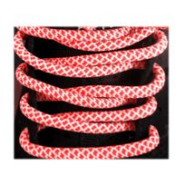 Neon - Lacets sneakers rope rouge/blanc