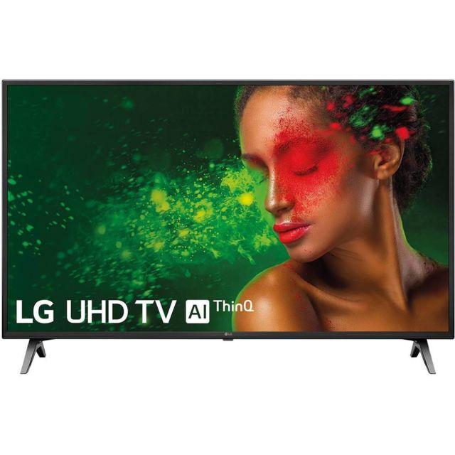 """LG TV LED 60"""" 151 cm - 60UM7100 TV intelligente LG 60UM7100 60' 4K Ultra HD LED WiFi Noir - Couleur: Noir Ecran: 60' Résolution: 3840 x 2160 px 4K Ultra HD Technologie: LED Processeur: Quad Core Récepteur: DVB-C, DVB-S2, DVB-T2 Connectivité: Wi-Fi Et"""