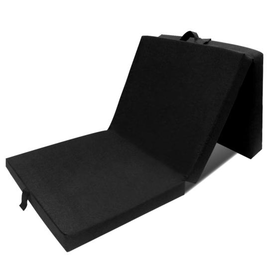 Vidaxl - Matelas en mousse pliable noir 190 x 70 9 cm