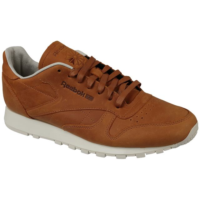 Reebok Classic Leather Lux Pw V68686 Homme Baskets Brun