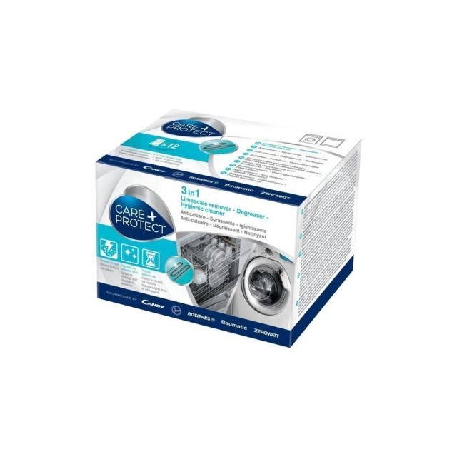 Sans Marque Cdp1012 Nettoyant 3 En 1 Degraissant,detartrant Et Desinfectant Pour Lave-linge Et Lave-vaisselle - Boite De 12 Sachets