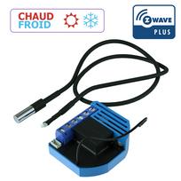 Qubino - Module thermostat chaud et froid encastrable Z-wave Plus avec sonde