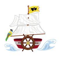 MARQUE GENERIQUE - Sticker géant Bateau de pirates