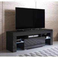 pas mal bbf04 9a493 Meuble Tv modèle Elio 130x45cm, couleur noir avec Led Rgb