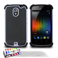 "Muzzano - Coque Semi-Rigide Ultra-Slim ""La Sport Case"" Premium Gris perle pour Samsung Galaxy Nexus + 3 Films de protection ?cran"