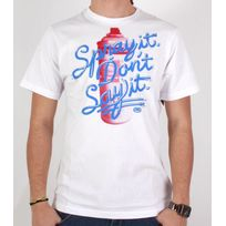 Ecko - Tshirt Spray it blanc