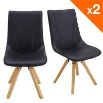 Kayelles - Cori lot de 2 chaises design noir