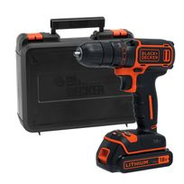 Black & Decker - Bdcdc18K Perceuse-Visseuse sans fil 18V 1.5Ah Coffret