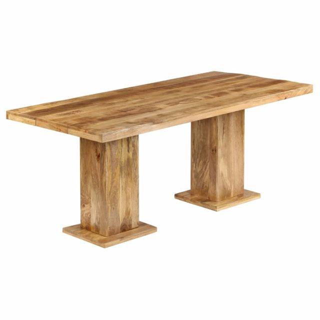Stylé Tables gamme Kinshasa Table à dîner massive Bois solide de manguier 178x90x77 cm