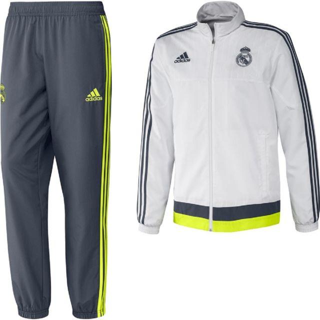 bf1dc357e2 Adidas performance - Survêtement de football adidas Performance Real Madrid  Présentation - S87862