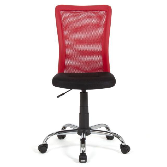 Alinéa - Mia Chaise de bureau dactylo à roulettes rouge et ...