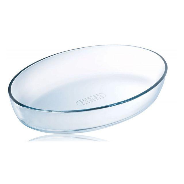 PYREX - plat ovale 35cm verre - 346b000/5046 verre transparent