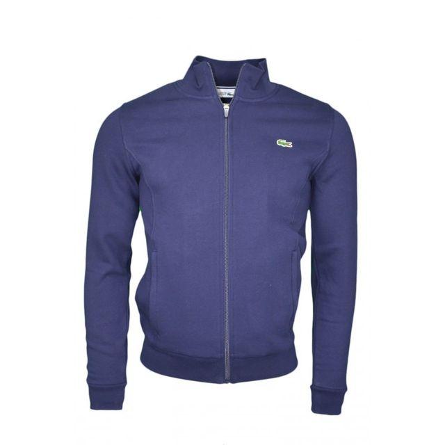 lacoste veste zipp bleu marine pour homme pas cher achat vente veste homme rueducommerce. Black Bedroom Furniture Sets. Home Design Ideas
