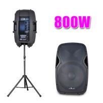 """Vexus - Enceinte Active Ap1500A 15"""" 800W Sono + Pied"""