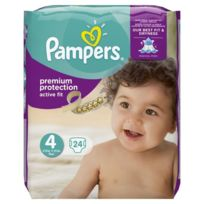 Pampers - Active Fit Taille 4, 8 a 16kg 24 couches