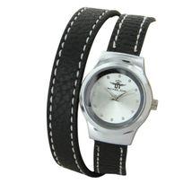 M.johnf - Montre pour Femme Cuir Noir Double-Bracelet M. John 1055
