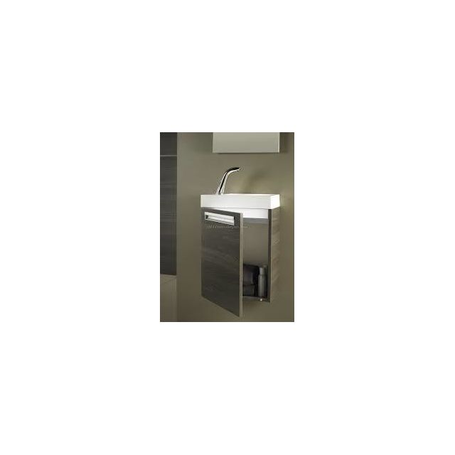 Riho Ensemble meuble & lavabo Lucca Set 5 en bois laqué brillant 40x22 H 57,5 cm