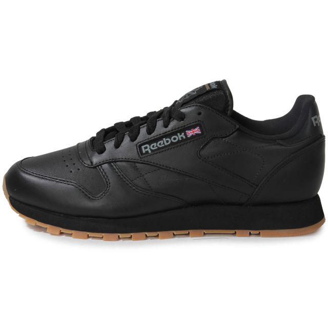 817f393e7f816 Reebok - Classic Leather Noir Gum - pas cher Achat   Vente Baskets ...