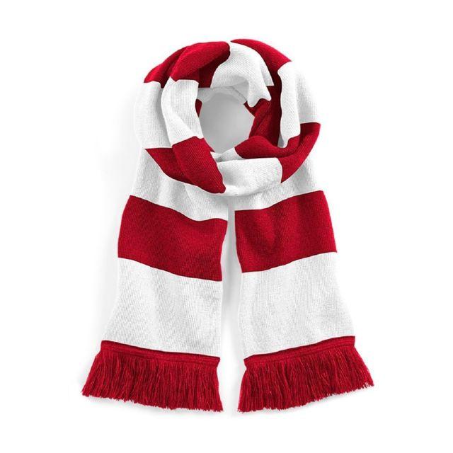 6ccaaae4123 Beechfield - Longue écharpe rayée - B479 - rouge et blanc - pas cher ...
