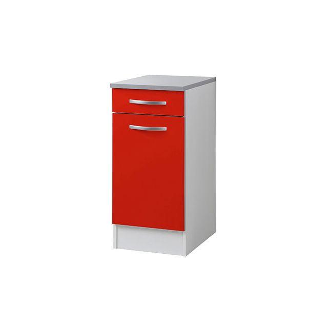 Meuble bas L40xH86xP47cm - rouge