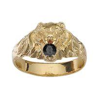 Sochicbijoux - So Chic Bijoux © Bague Chevalière Homme Lion Oxyde de  Zirconium Noir Vermeil Or 1fade85f1b9c
