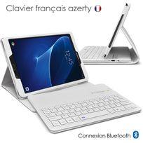 "Karylax - Etui Blanc Clavier Azerty Bluetooth pour Samsung Galaxy Tab A 7"" T280 2016"