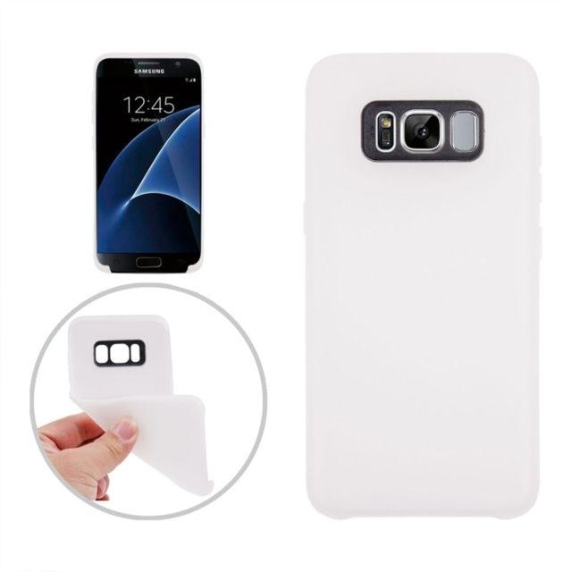 Wewoo - Coque blanc pour Samsung Galaxy S8 +   G9550 Classique lisse  surface souple Tpu 1d6865390476