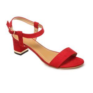 78e7635694b0a Sandales rouges en deux parties à talon carré FDWRhTvMoY - jawse ...