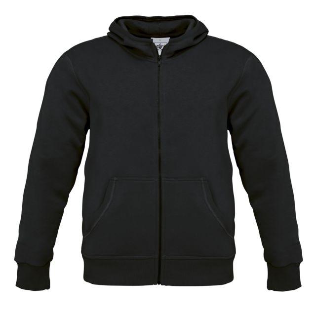 Fashion Cuir Sweat capuche Couleur noir, Taille Homme