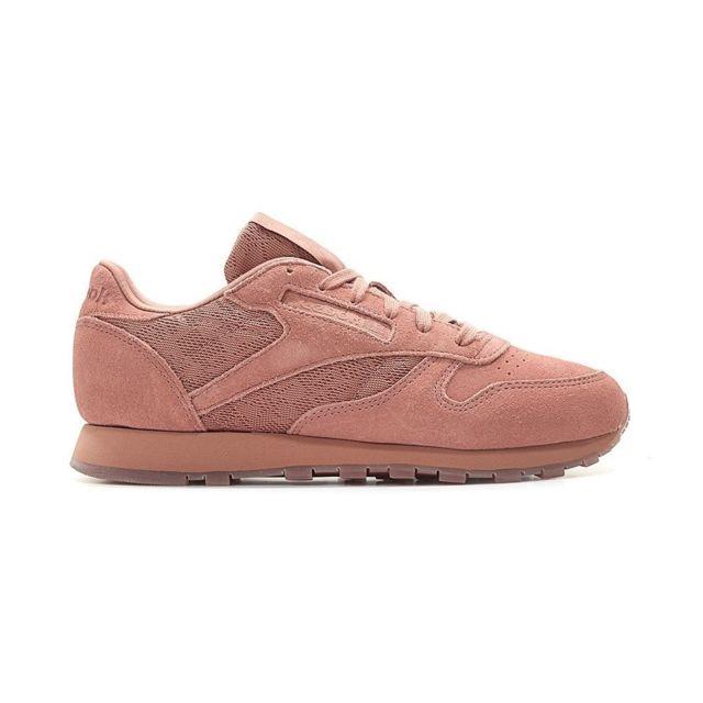 e0216281fb4e Reebok - Classic Leather Lace Sandy Rose - pas cher Achat / Vente Baskets  femme - RueDuCommerce
