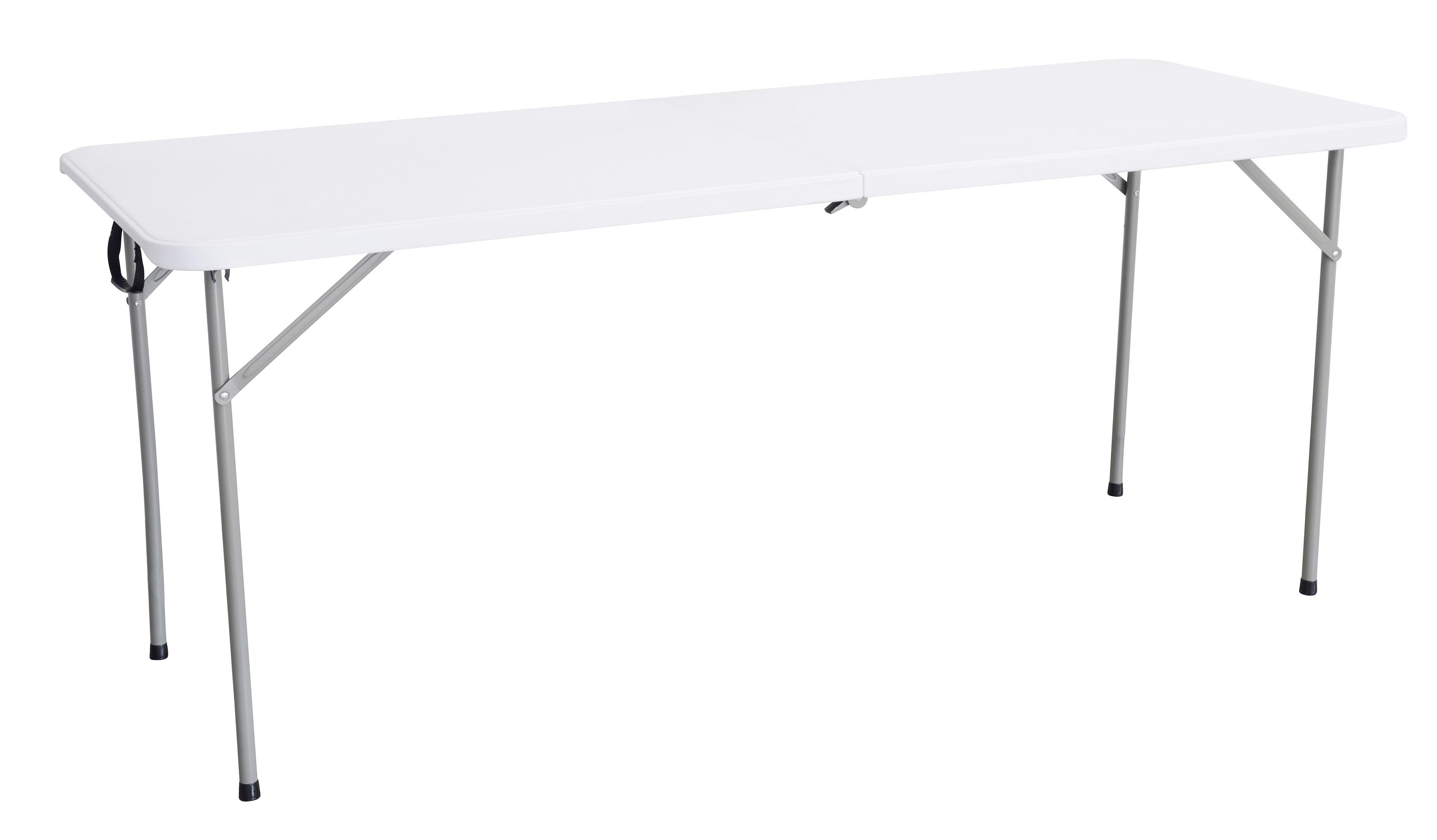 RUE DU COMMERCE Table pliante multiusage - L 1,80 m - Blanc - 447923