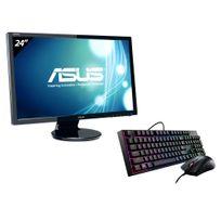 ASUS - Ecran 24 LED VGA DVI HDMI 2ms HP + MasterKeys Lite L Combo RGB