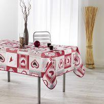 Couleur Campagne - Cdaffaires nappe rectangle 150 x 200 cm fils coupes imprime patch cocotte