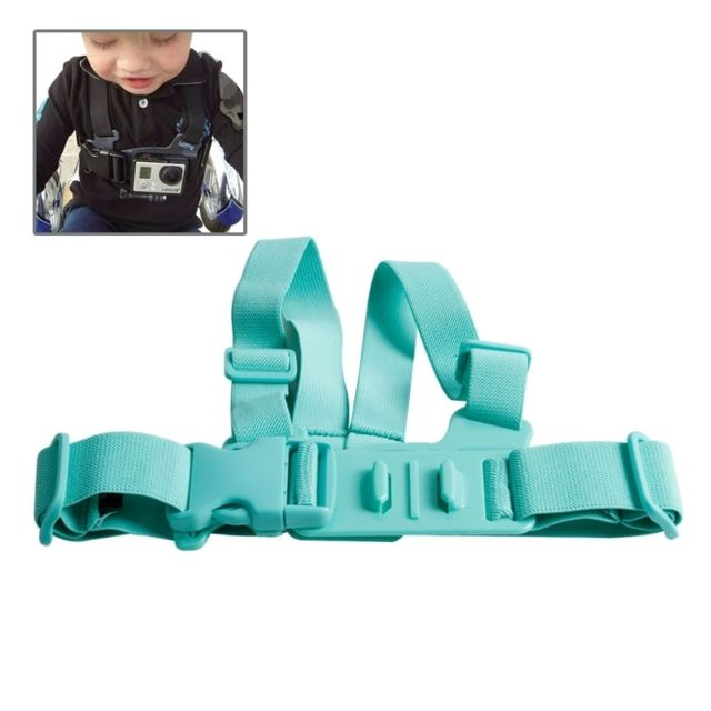 9605336e796 Wewoo - Pour GoPro Hero 4   vert 3+   36925 Harnais de poitrine   ceinture  de Junior - pas cher Achat   Vente Trépied et fixation photo vidéo - ...