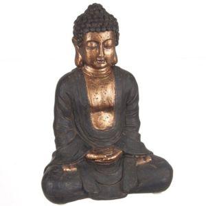 statuette bouddha statue bouddha assis 23 cm bronze pas cher achat vente fontaines d. Black Bedroom Furniture Sets. Home Design Ideas