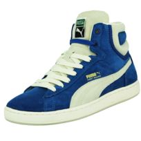 bf2cf1724cc8b Puma - First Round Ns Chaussures Mode Sneakers Unisexe Cuir Suede Bleu