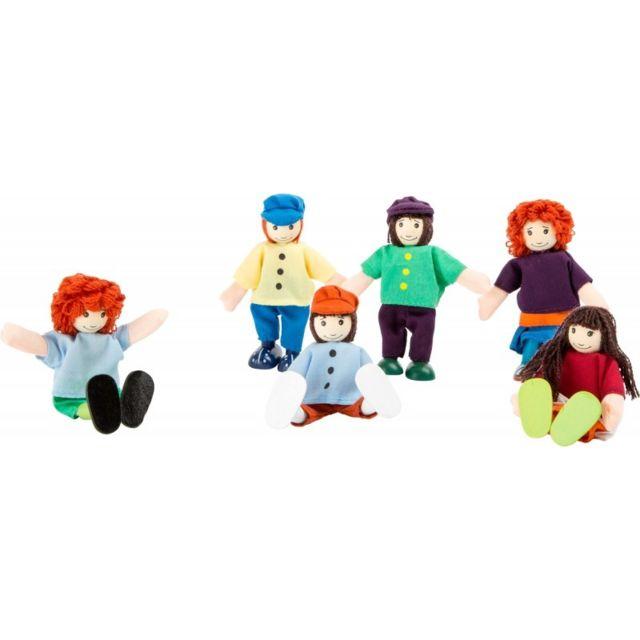 Small Foot Company Petites poupées souples «6 amis