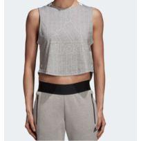 Sweat shirt à capuche Sport ID Printed Crop Blanc adidas   adidas France