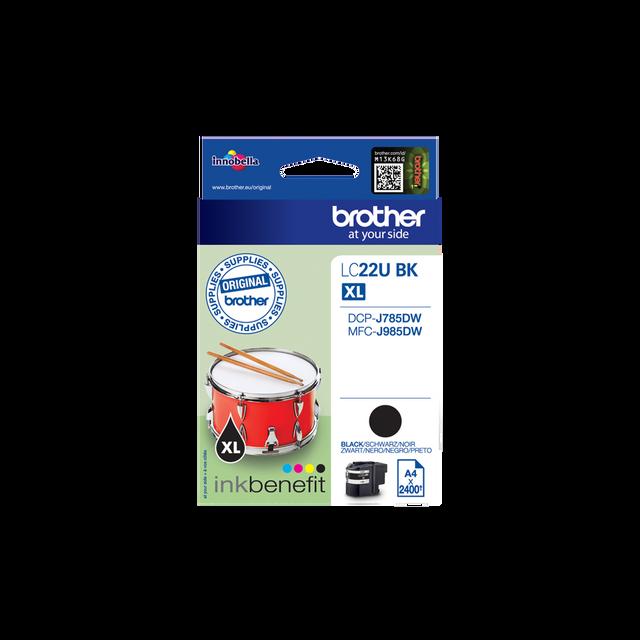 BROTHER LC22UBK - Cartouche d'encre Noir x2