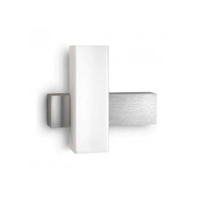 philips applique murale originale savoir h21 cm aluminium gris pas cher achat vente. Black Bedroom Furniture Sets. Home Design Ideas