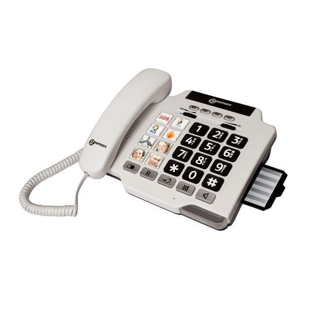 geemarc photophone 100 blanc photophone 100 blanc pas cher achat vente t l phone fixe. Black Bedroom Furniture Sets. Home Design Ideas