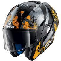 Shark - casque intégral modulable en jet Evo-one Falhout Koa moto scooter noir gris orange mat Xl