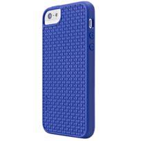 Skech - Coque Antichoc Tressée GripShock Tpu Bleu pour iPhone 5/5S/SE