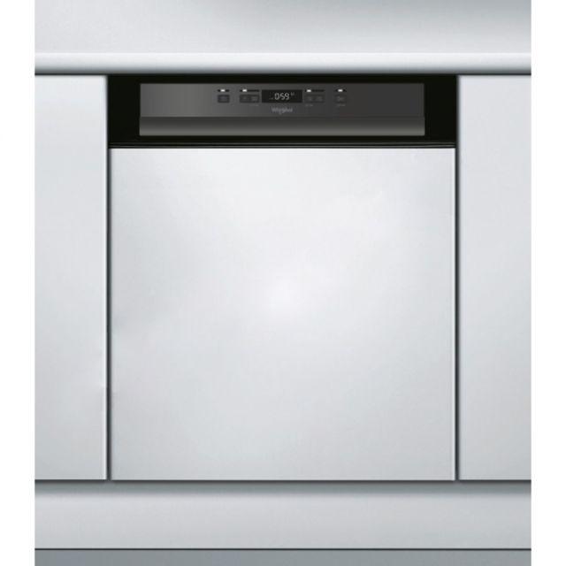 whirlpool lave vaisselle int grable encastrable bandeau noir 46db a 14 couverts 60cm moteur. Black Bedroom Furniture Sets. Home Design Ideas