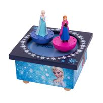 Disney Junior - Boite à Musique Magnétique La Reine des Neiges Frozen, : Elsa et Anna