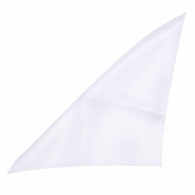 Touche Finale - Pochette en soie blanche pour costume